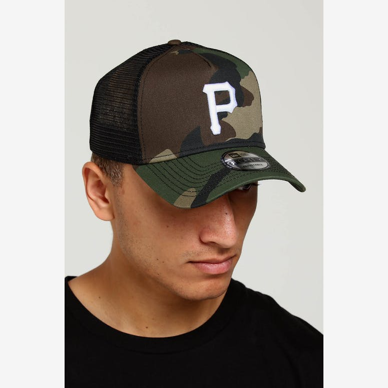 908f54a665f New Era Pittsburgh Pirates CK 9FORTY A-Frame Trucker Snapback Camo Bla – Culture  Kings