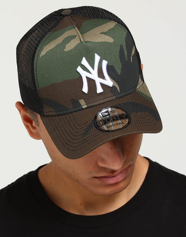 59843ac05 New Era New York Yankees CK 9FORTY A-Frame Trucker Snapback Camo/Black