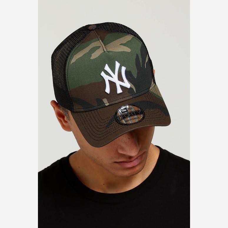 New Era New York Yankees CK 9FORTY A-Frame Trucker Snapback Camo Black –  Culture Kings 618871ff27b