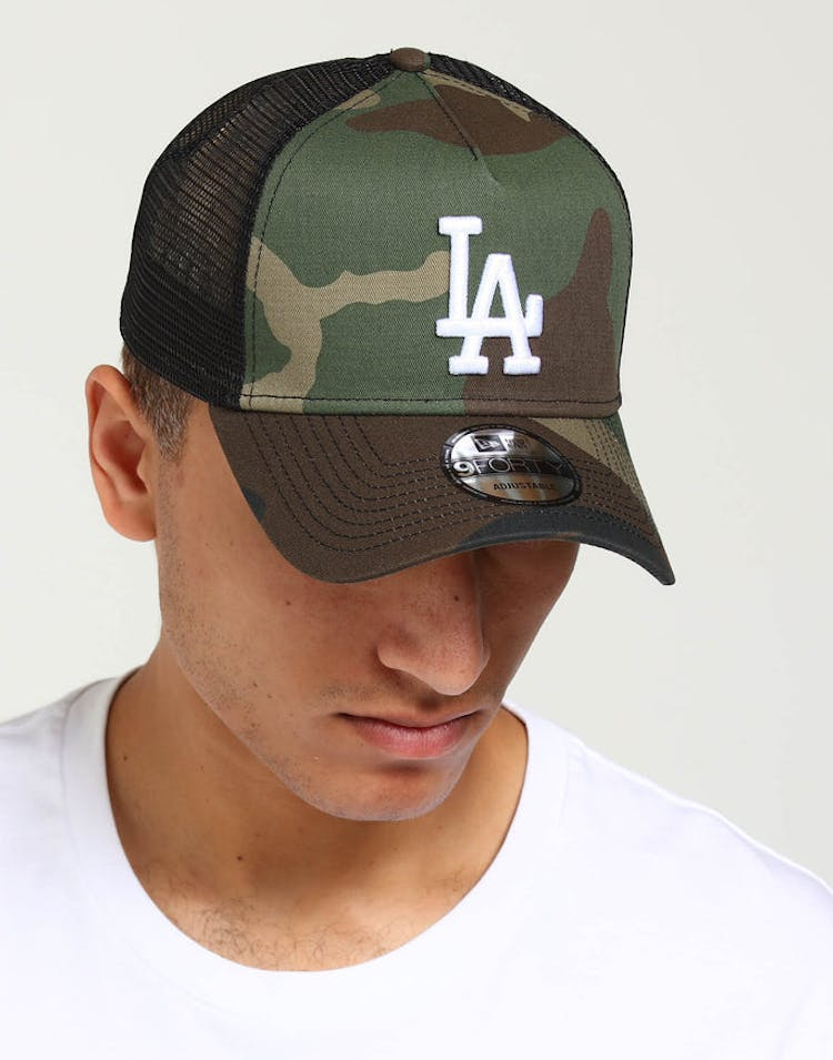 finest selection 23512 cf10e New Era Los Angeles Dodgers CK 9FORTY A-Frame Trucker Snapback Camo Bl –  Culture Kings