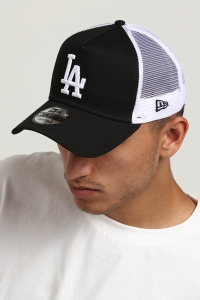 New Era Los Angeles Dodgers 9FORTY A-Frame Trucker Snapback Black/White