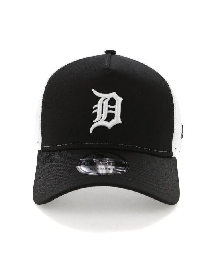 9271aefb New Era Detroit Tigers 9FORTY A-Frame Trucker Snapback Black/White –  Culture Kings