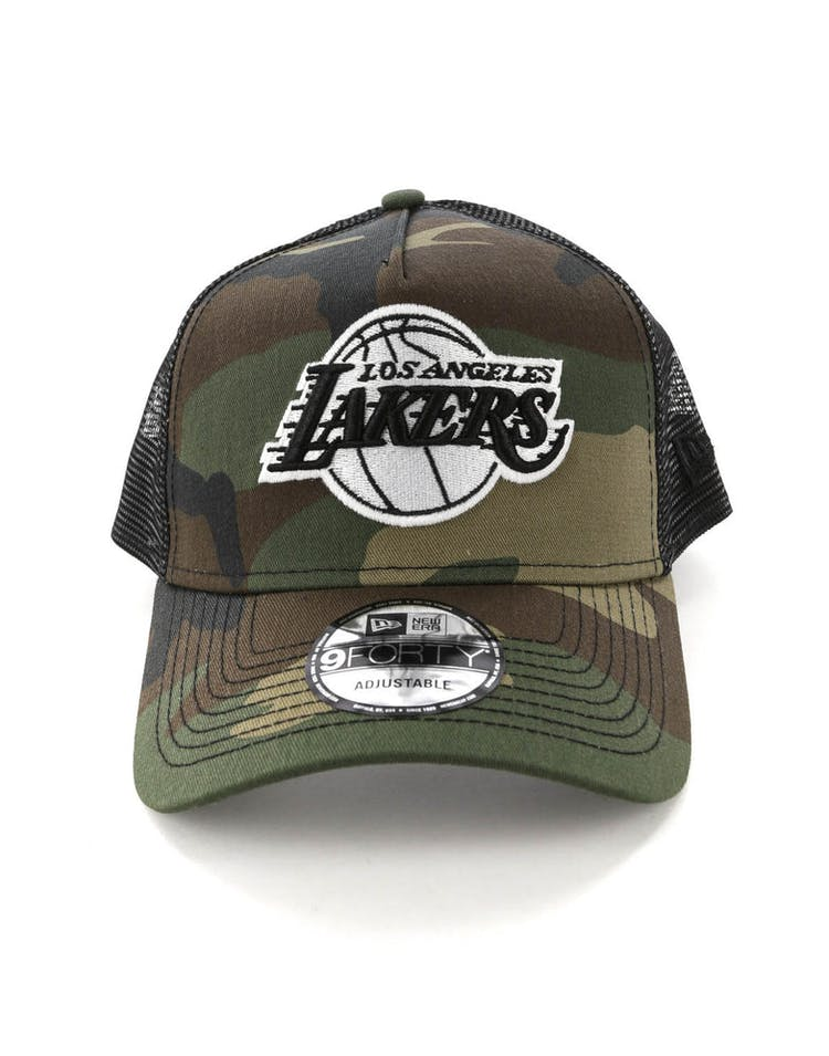 614818d5 New Era Los Angeles Lakers CK 9FORTY A-Frame Trucker Snapback Camo/Black