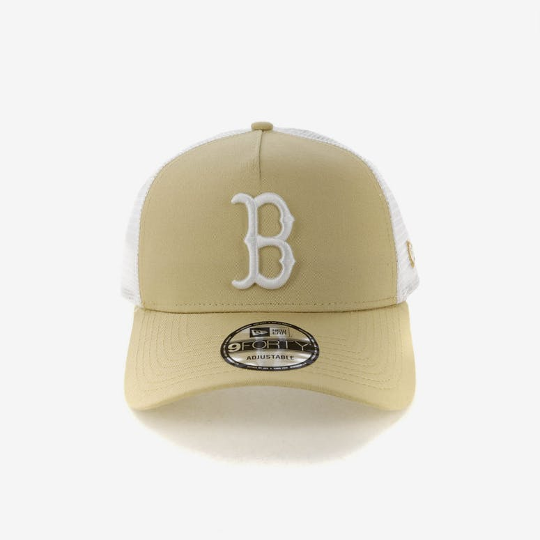 9ef60008215 New Era Boston Red Sox 9FORTY A-Frame Trucker Snapback Nude White – Culture  Kings