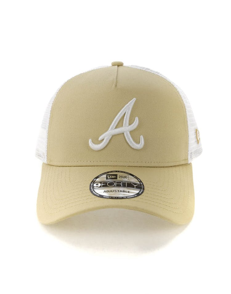 2212fb02 New Era Atlanta Braves 9FORTY A-Frame Trucker Snapback Nude/White – Culture  Kings