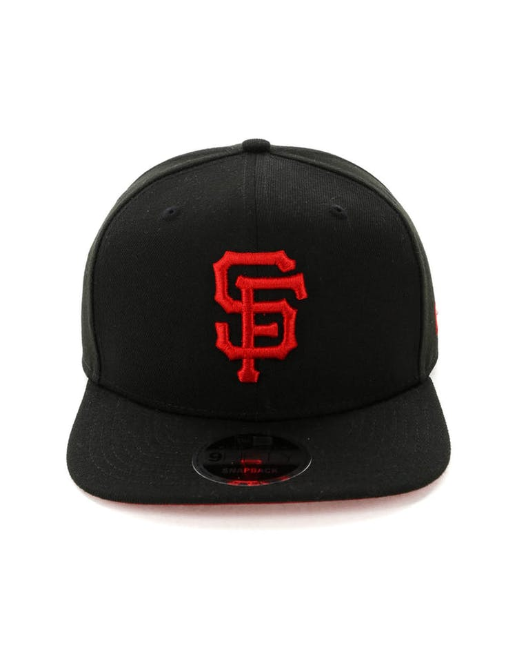 info for 83278 4245b New Era San Francisco Giants 9FIFTY HC Snapback Black Red