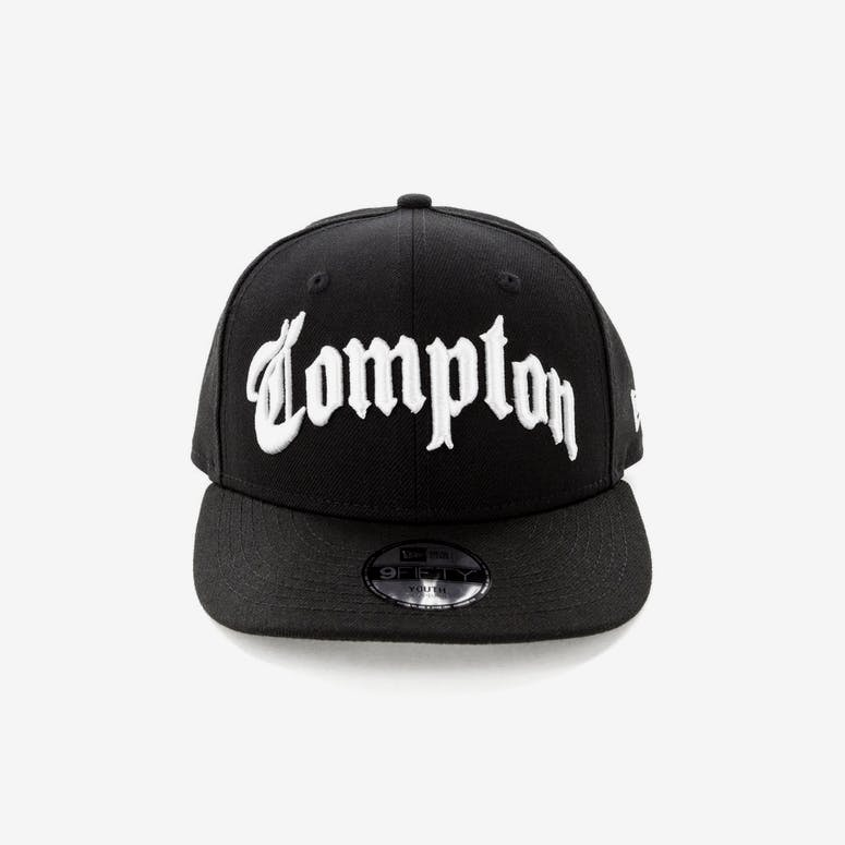 New Era Compton Kids 9FIFTY Precurved Black White – Culture Kings c19140e03