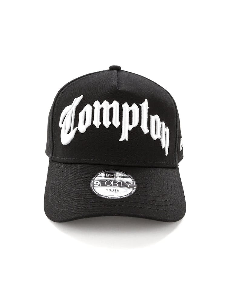 10f281e8 New Era Compton Youth 9FORTY A-Frame Black/White – Culture Kings