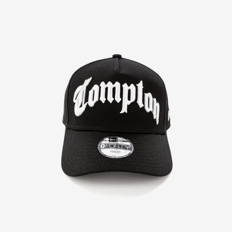 e4a25e4217f New Era Compton Youth 9FORTY A-Frame Black White – Culture Kings