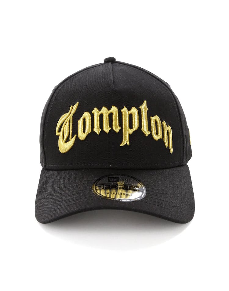 newest 1913c 866c1 New Era Compton 9FORTY A-Frame Black Gold – Culture Kings