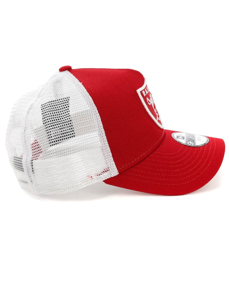 80de3104 New Era Youth Raiders 9FORTY A-Frame Trucker Scarlet/White – Culture ...