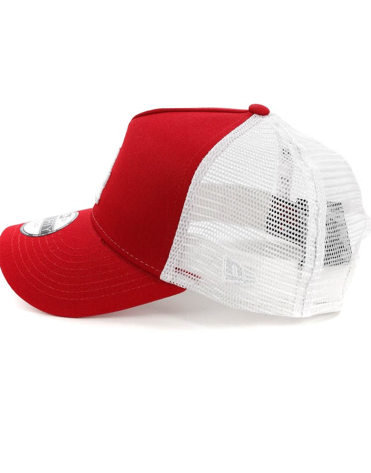 ba633f6a New Era Youth Los Angeles Dodgers 9FORTY A-Frame Trucker Scarlet/White