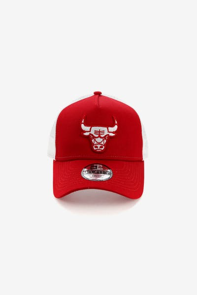 New Era Youth Chicago Bulls 9FORTY A-Frame Trucker Scarlet/White
