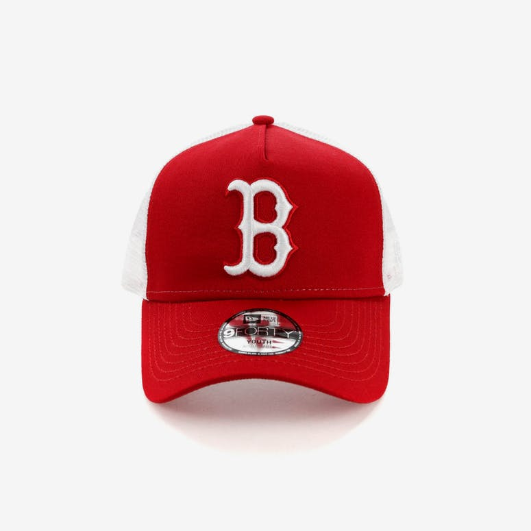 New Era Youth Boston Red Sox 9FORTY A-Frame Trucker Scarlet White – Culture  Kings 3868df6398d
