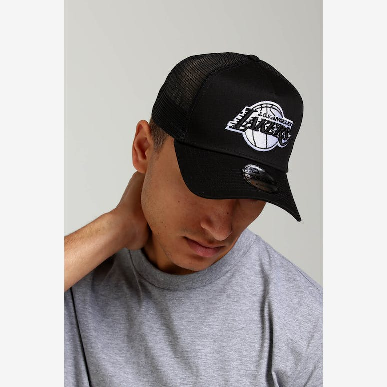 ab3a98b35bf New Era Los Angeles Lakers CK 9FORTY A-Frame Trucker Black – Culture Kings