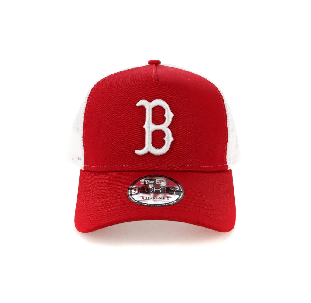 1f5e93822d7 ... wholesale new era boston red sox 9forty a frame trucker snapback  scarlet white 029cc bc9b0