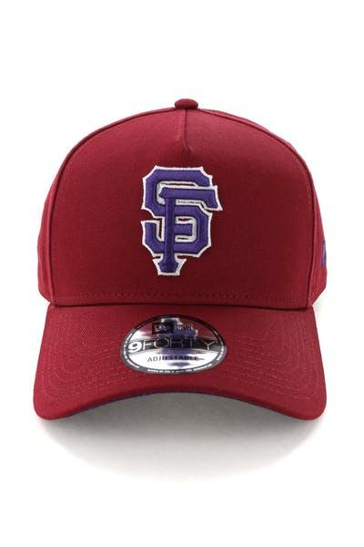pretty nice 64d82 e9c63 New Era San Francisco Giants 9FORTY A-Frame Snapback Shiraz Purple
