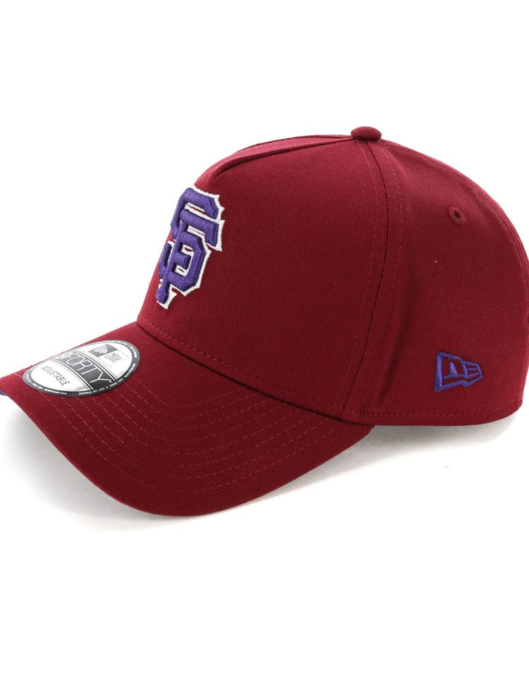 pretty nice ebf59 1b045 New Era San Francisco Giants 9FORTY A-Frame Snapback Shiraz Purple
