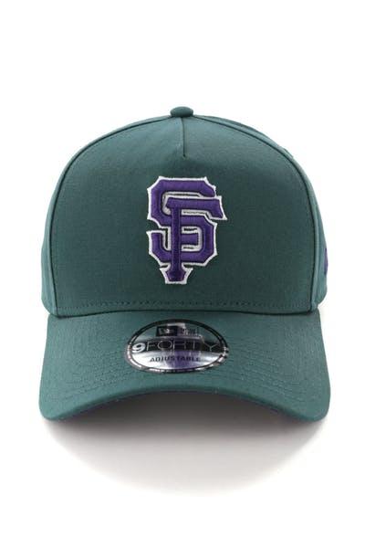 121b6a0f5578 New Era San Francisco Giants 9FORTY A-Frame Snapback Pine Purple