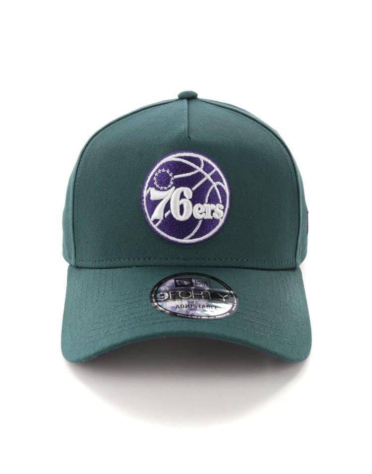 1208bc3e New Era Philadelphia 76ers 9FORTY A-Frame Snapback Pine/Purple