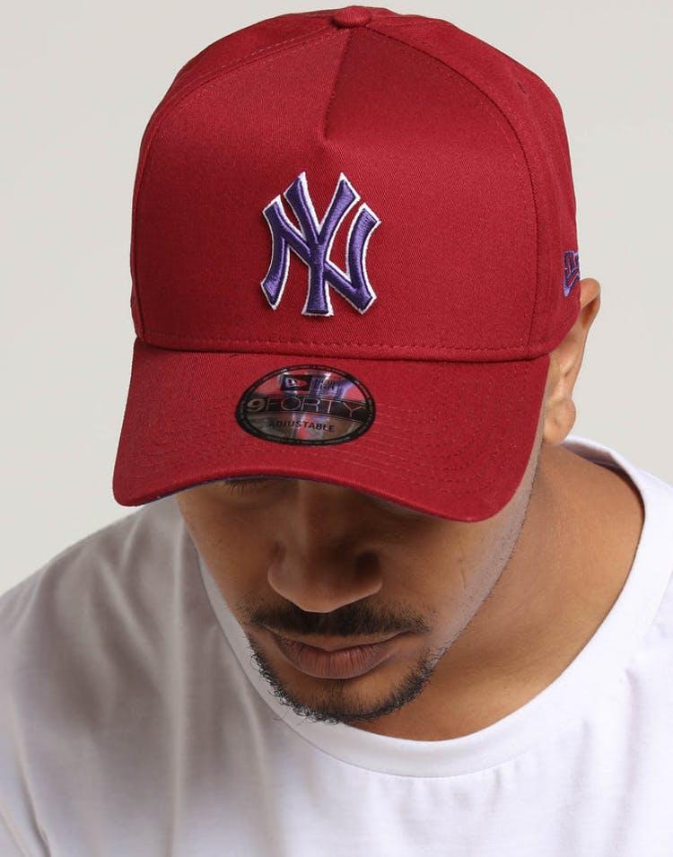 buy popular e3a2a 1a44b New Era New York Yankees 9FORTY A-Frame Snapback Shiraz Purple