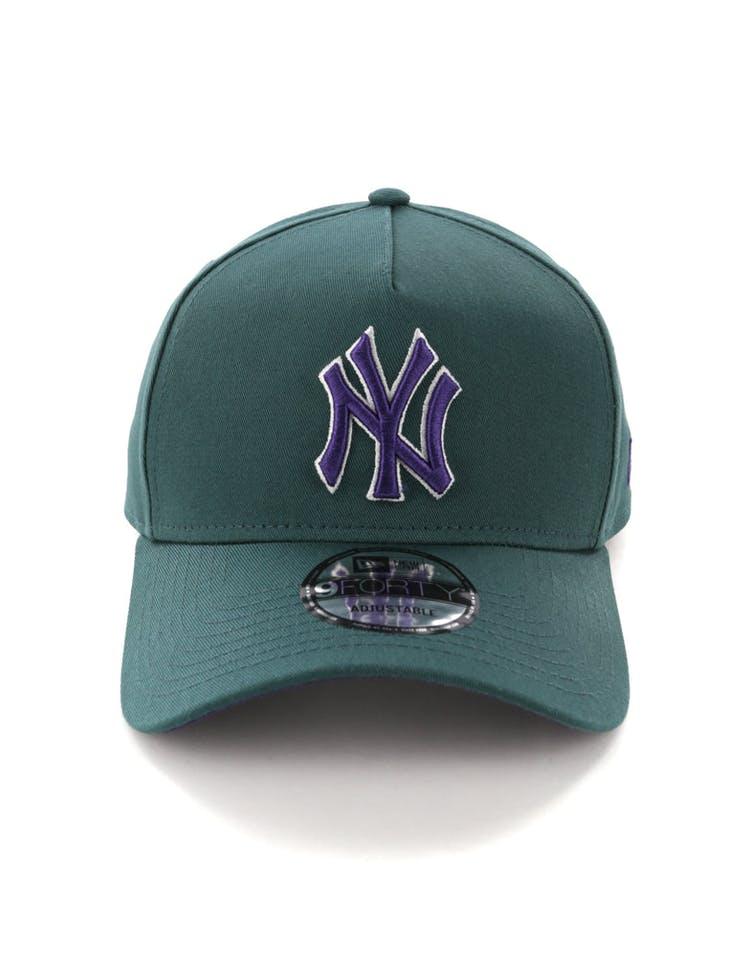 super popular ca6c1 2e2ea New Era New York Yankees 9FORTY A-Frame Snapback Pine Purple