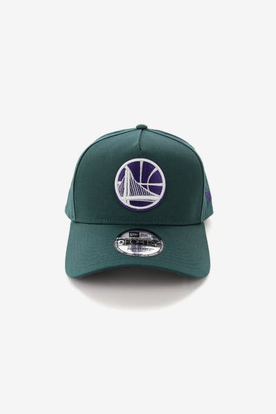 competitive price c2cdc 13339 New Era Golden State Warriors 9FORTY A-Frame Snapback Pine Purple