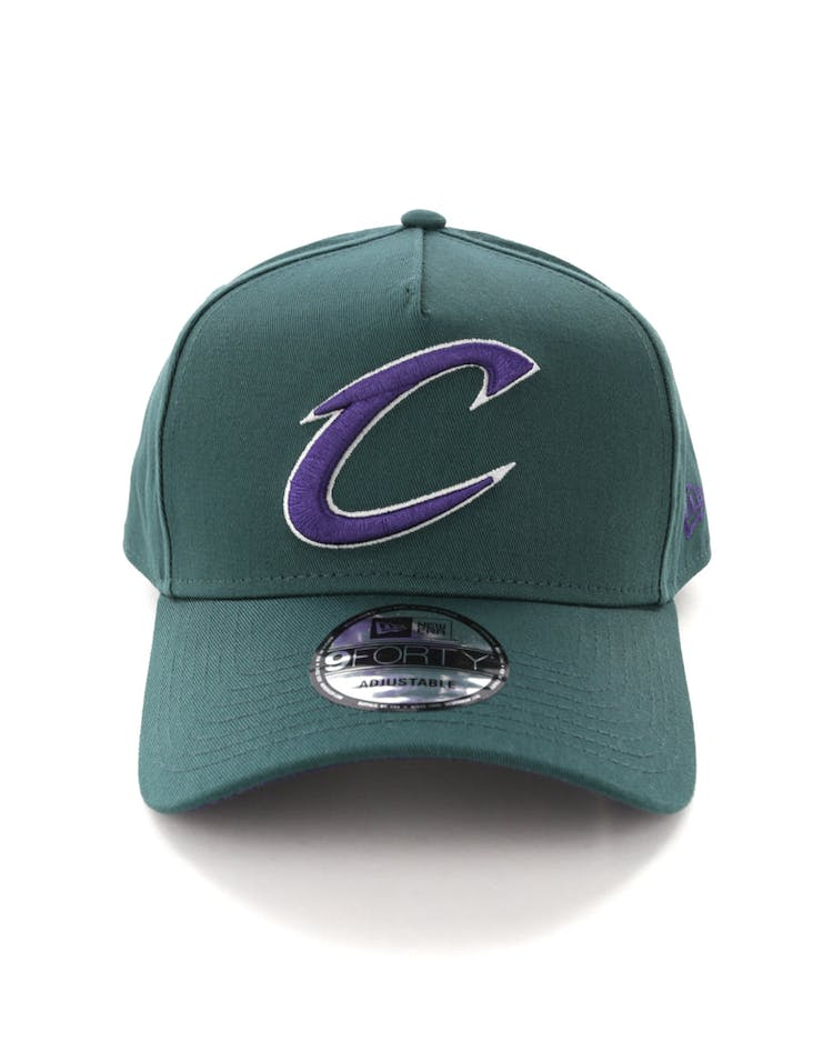 newest collection 5a6d7 6eab3 New Era Cleveland Cavaliers 9FORTY A-Frame Snapback Pine Purple – Culture  Kings