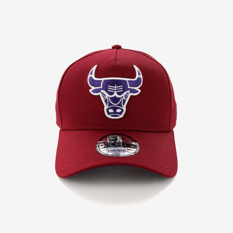 New Era Chicago Bulls 9FORTY A-Frame Snapback Shiraz Purple – Culture Kings 41ea95d4e