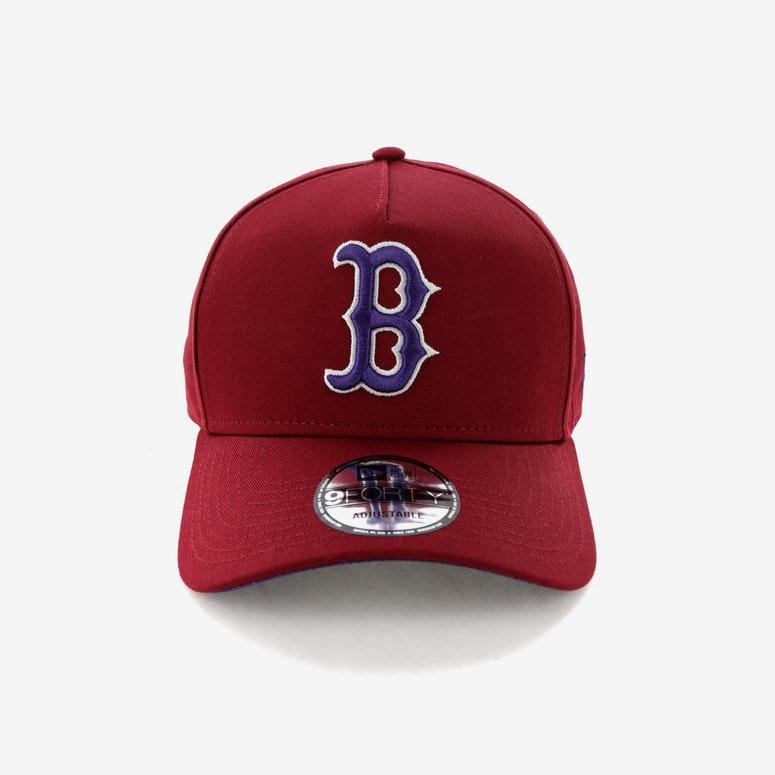 official photos ec2cc f9e5f New Era Boston Red Sox 9FORTY A-Frame Snapback Shiraz Purple – Culture Kings