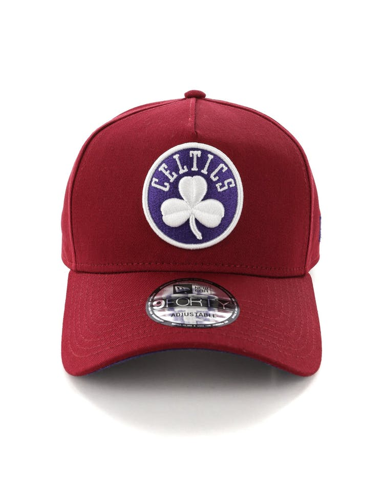 7d31f9abf0e New Era Boston Celtics 9FORTY A-Frame Snapback Shiraz Purple – Culture Kings