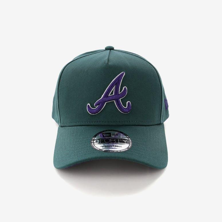 New Era Atlanta Braves 9FORTY A-Frame Snapback Pine Purple – Culture Kings 3cdfd221f65