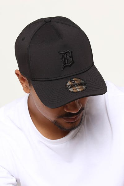 save off 653d3 21f00 New Era Detroit Tigers 9FORTY A-Frame Neo Snapback Black