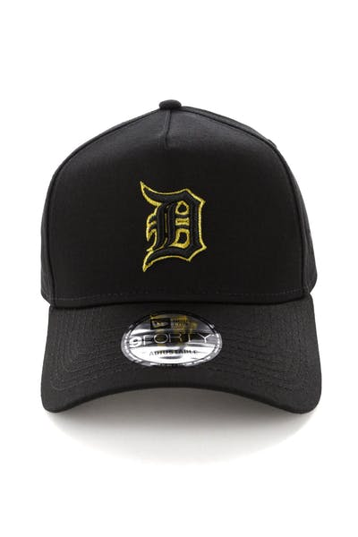 pretty nice 6fbad 63586 New Era Detroit Tigers 9FORTY A-Frame Snapback Outline Black Gold ...