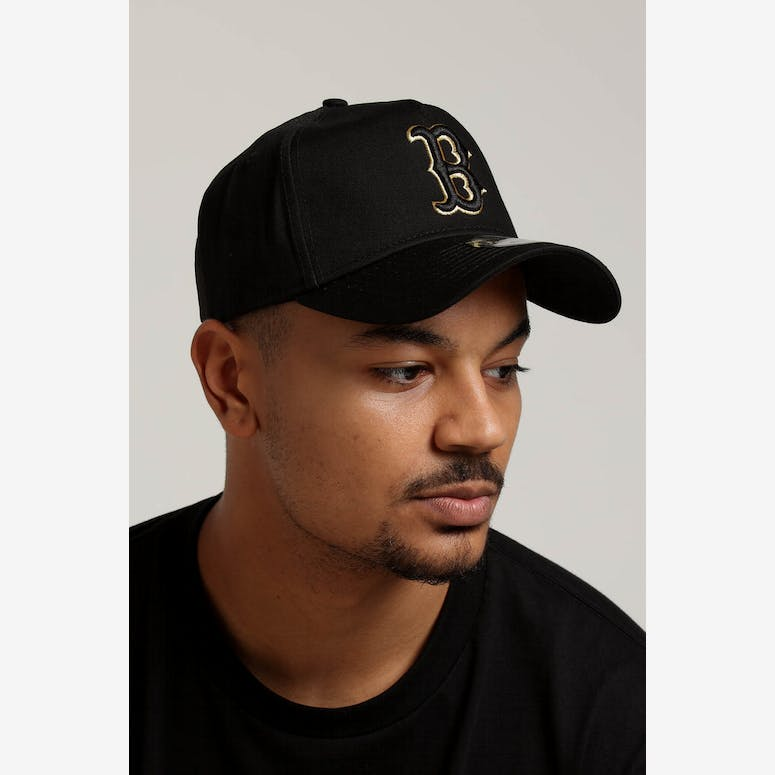 5f399b0c164 New Era Boston Red Sox 9FORTY A-Frame Snapback Outline Black Gold – Culture  Kings