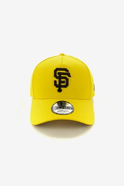 48a13b61926 New Era San Francisco Giants 9FORTY A-Frame Snapback Yellow Black