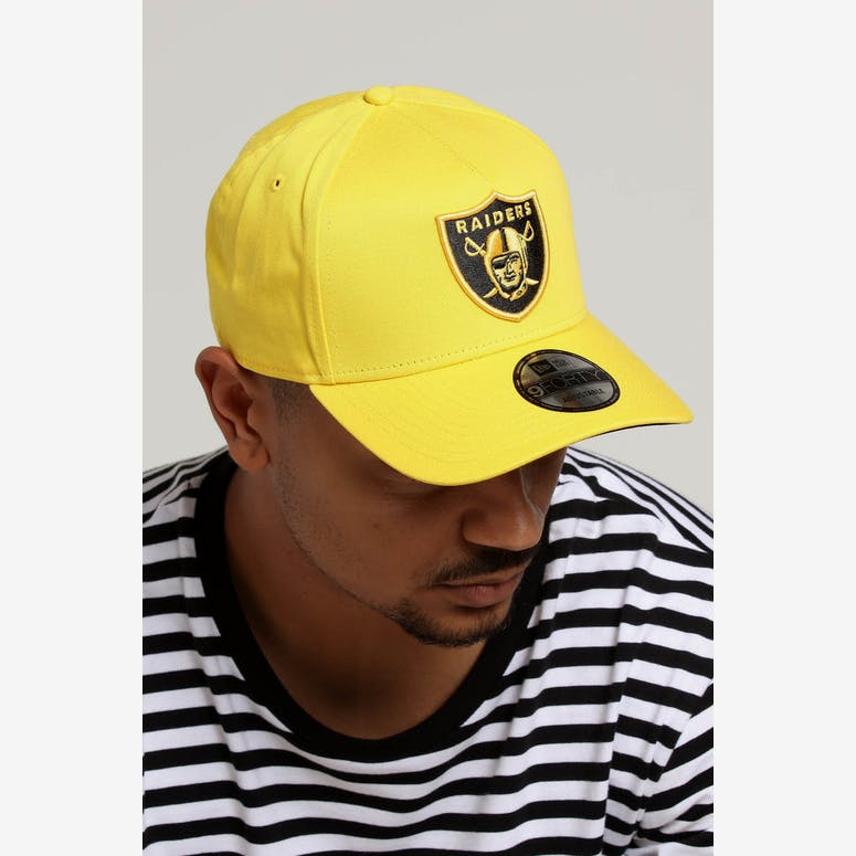 New Era Raiders 9FORTY A-Frame Snapback Yellow Black – Culture Kings 7a281cc50