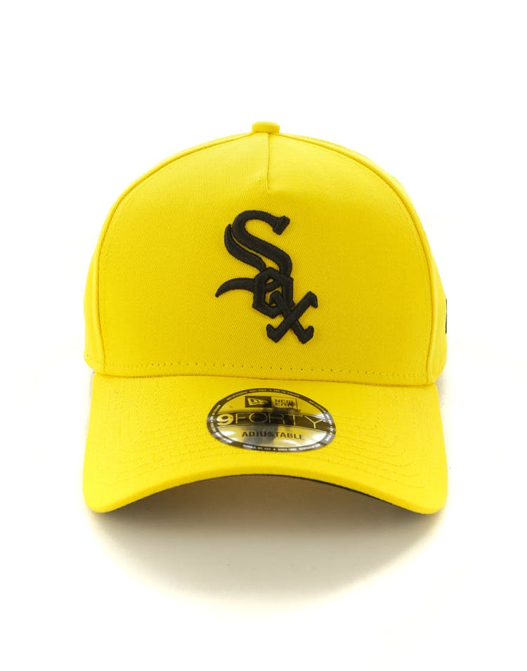 60b9a9cc6 New Era Chicago White Sox 9FORTY A-Frame Snapback Yellow/Black – Culture  Kings