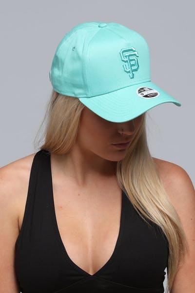 buy popular 7ab53 0de2e New Era Women s San Francisco Giants 9FORTY A-Frame Strapback Pastel Green  ...