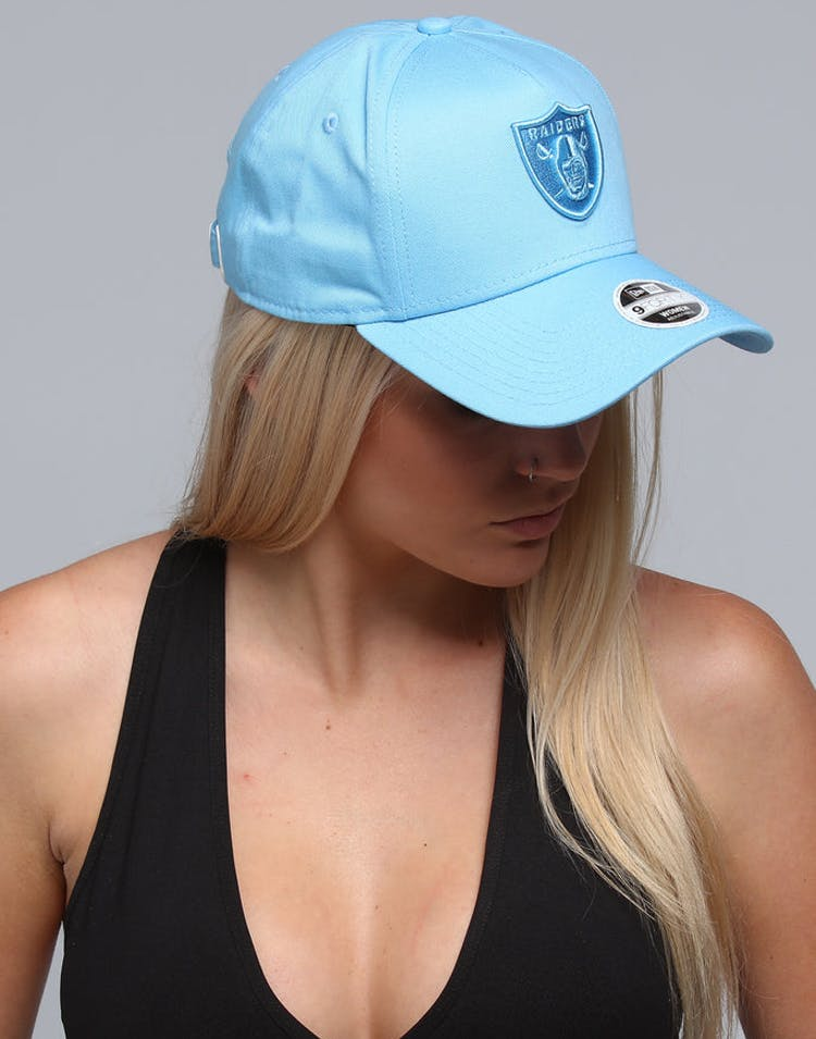 2cb49e02 New Era Women's Raiders 9FORTY A-Frame Strapback Pastel Blue – Culture Kings