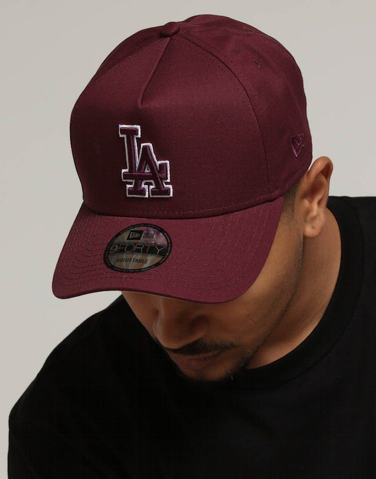 5e7f6831a New Era Los Angeles Dodgers 9FORTY A-Frame Burgundy Tan – Culture Kings