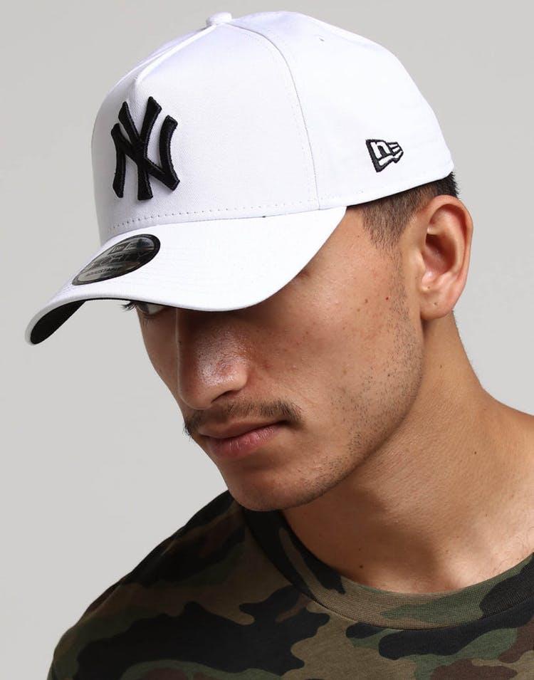 c09eaac4a6d New Era New York Yankees 9FORTY A-Frame Snapback White Black – Culture Kings