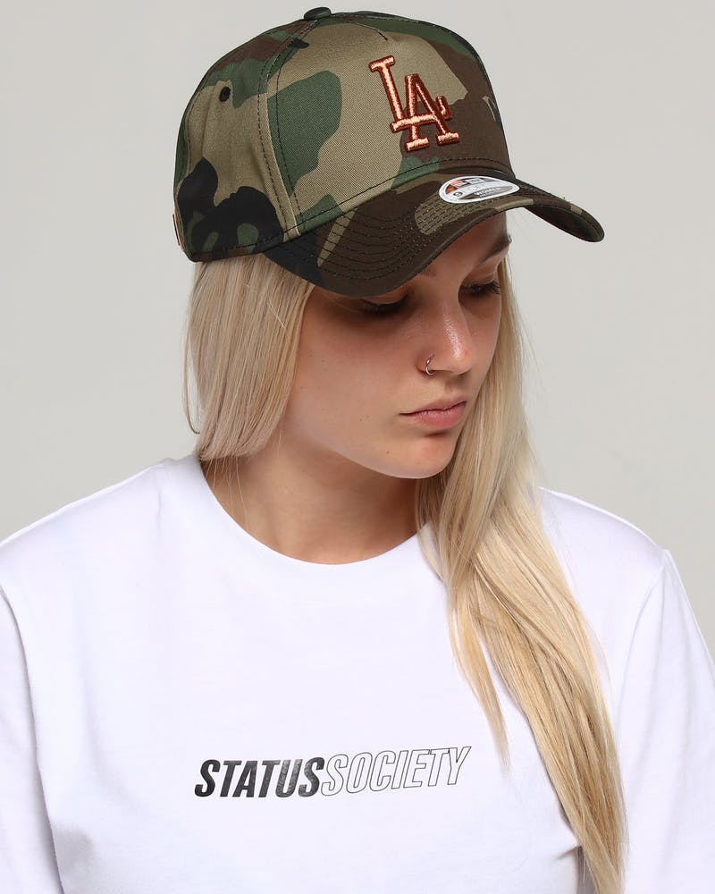 New Era Women's Los Angeles Dodgers 9Forty A-Frame Strapback Camo/Rose Gold