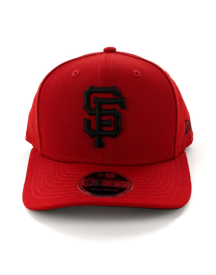 huge discount 92b37 ef406 New Era San Francisco Giants 9FIFTY Original Fit Precurved Snapback  Scarlet Black