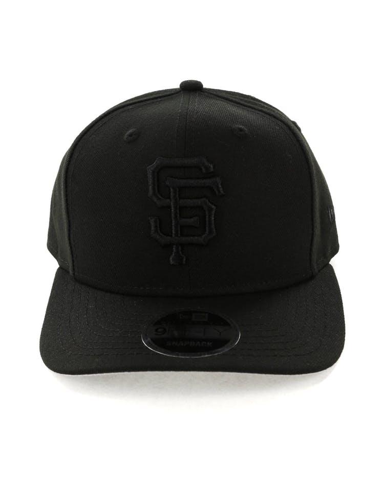 detailed look 1775a 97801 New Era San Francisco Giants 9FIFTY Original Fit Precurve Snapback Black  Grey