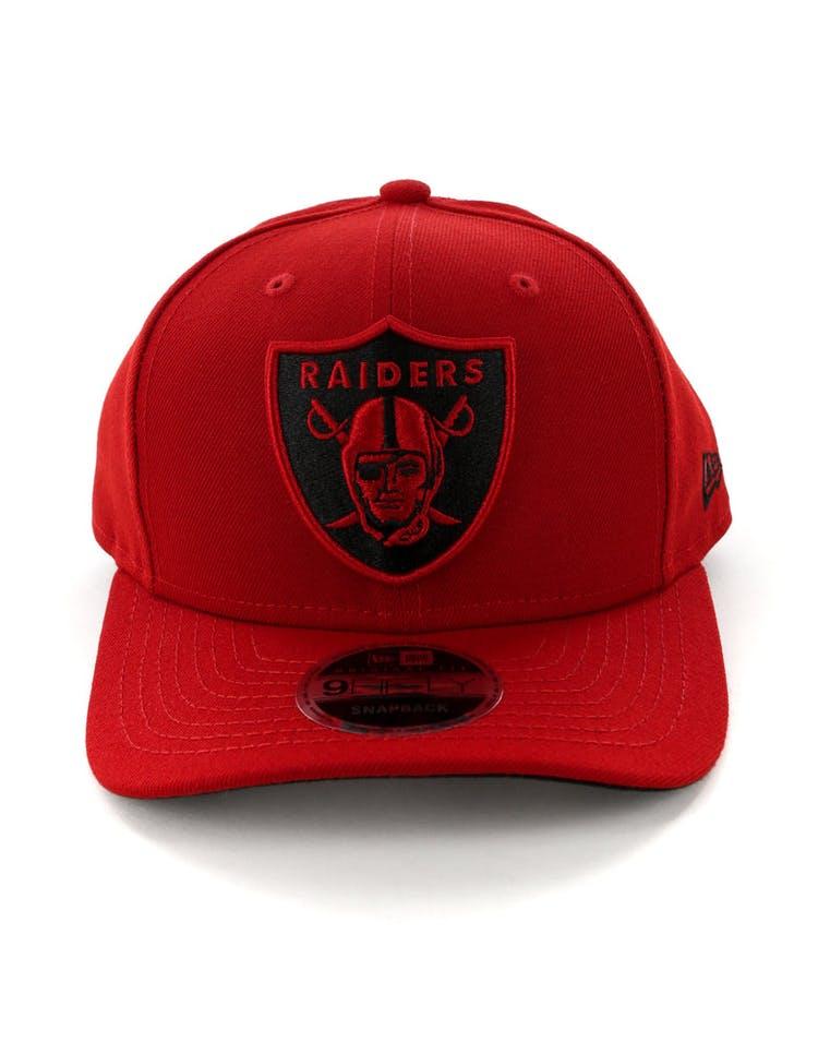 finest selection 1877b cedca New Era Raiders 9FIFTY Original Fit Precurved Snapback Scarlet Black