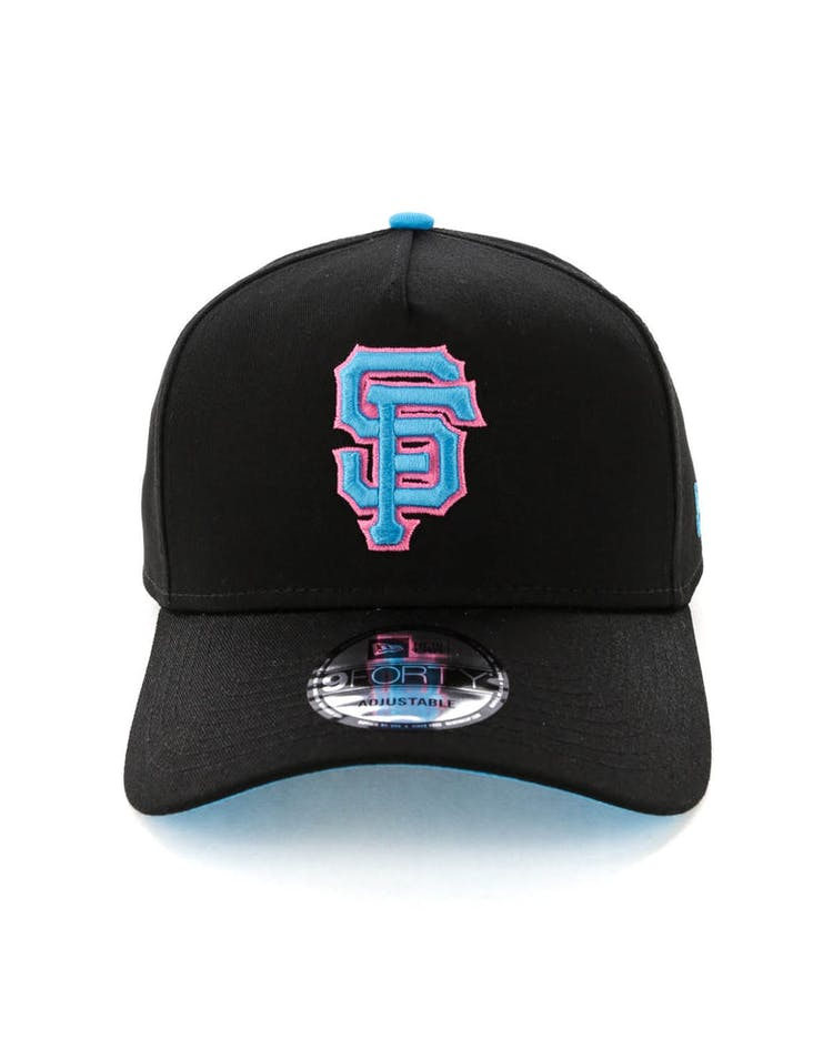 official photos 48655 e0958 New Era San Francisco Giants 9FORTY A-Frame Snapback Black Pink Neon