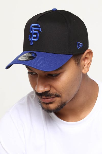 detailed look 090c1 4dfb6 New Era San Francisco Giants 9FORTY A-Frame 2Tone Snapback Black Blue