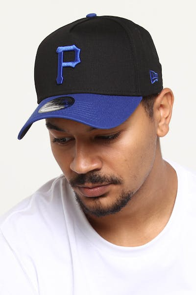 buy online 40fac c32f8 New Era Pittsburgh Pirates 9FORTY A-Frame 2Tone Snapback Black Blue ...
