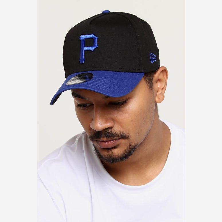 6fb4cde4fb6 New Era Pittsburgh Pirates 9FORTY A-Frame 2Tone Snapback Black Blue – Culture  Kings